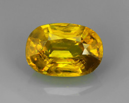 1.90 CTS SPARKLING NATURAL ULTRA RARE MULTI BROWNISH-YELLOW COLOR  SPHENE!