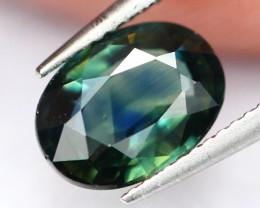 Sapphire 1.02Ct Traditional Heated Tri Color Blue Sapphire E0403