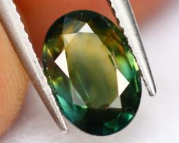 BiColor Sapphire 0.92Ct Traditional Heated Bi Color Yellow/Green Sapphire E