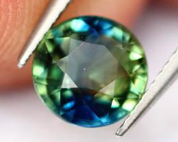 BiColor Sapphire 0.89Ct Traditional Heated Bi Color Blue/Green Sapphire E04