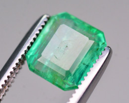 Certified~  1.55 Ct Natural Zambia Emerald Gemstone