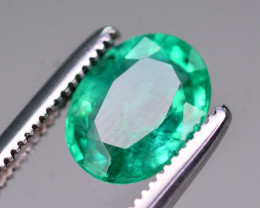 Certified~ 1.15 Ct Natural Zambia Emerald Gemstone