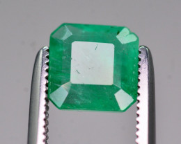 Certified~ 1.20 Ct Natural Zambia Emerald Gemstone