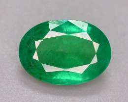 Certified~ 1.60 Ct Natural Zambia Emerald Gemstone