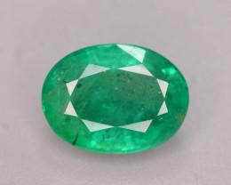Certified~ 1.65 Ct Natural Zambia Emerald Gemstone