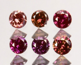 Splendid 0.26 Cts Natural Purple Pink Diamond Round Parcel