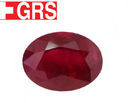 3.01 ct Oval Ruby  (Pigeon Blood Red)