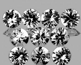 2.80 mm Round 10 pcs White Sapphire [VVS]