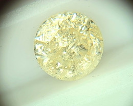 1.73ct Fancy Light Yellow  Diamond , 100% Natural Untreated