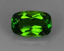 1.25 CTS NATURAL UNHEAT GENUINE LUSTROUS  CHROME DIOPSIDE CUSHION GEM NR!!