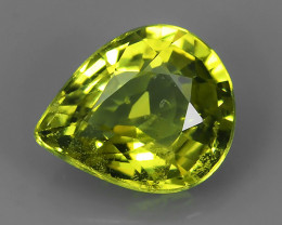 MASTER PEAR CUT NATURAL YELLOWISH GREEN CHRYSOBERYL~ Excellent ~