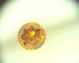 0.19ct Fancy Intense greenish yellowish Orange  Diamond , 100% Natural Untr