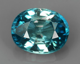 3.10 CTS AWESOME NICE OVAL-NATURAL SWEET-BLUE-ZIRCON FACET GENUINE!!