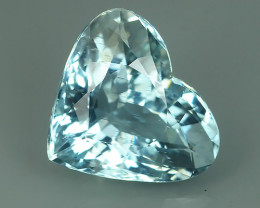 5.05 CTS - SHIMMERING HEART ULTRA FINE COLOR -100 % NATURAL AQUAMARINE - NR