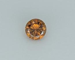 Natural Fancy Deep brown-Orange Round  Diamond