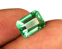 High-End 0.62 ct Zambian Emerald Certified!