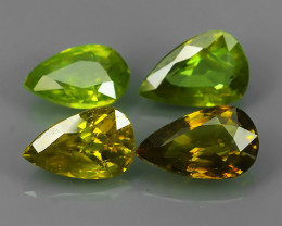 4.95 CTS AMAZING RAREST ! TOP FIRE NATURAL BROWN-GREEN-YELLOW COLOR SPHENE!