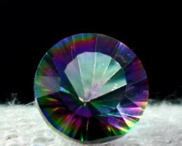 1.90 CT Natural - Coated Mystic Quartz Faceted Gemstone