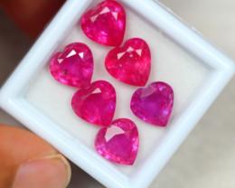 13.81Ct Ruby Heart Cut Lot Z100