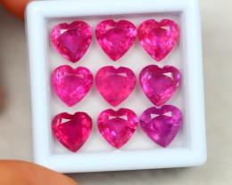 16.63Ct Ruby Heart Cut Lot Z103