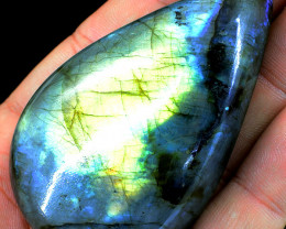 Genuine 530.00 Cts  Amazing Flash Labradorite Cabochon