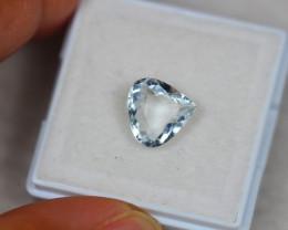 1.83ct Light Blue Aquamarine Pear Cut Lot GW3523