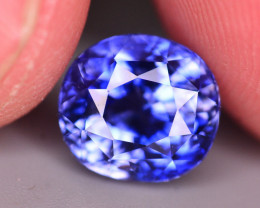 CERTIFIED 3.99 CTS NATURAL BEAUTIFUL OVAL MIX CUT BLUE SAPPHIRE