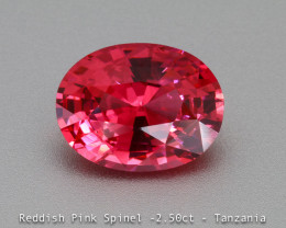 Dazzling  Vivid Pink Spinel - Oval 2.50 ct - Eye Clean Gem - Certified -Mah