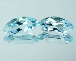 Amazing 7.14 Cts Natural Sky Blue Topaz Marquise Pair Brazil