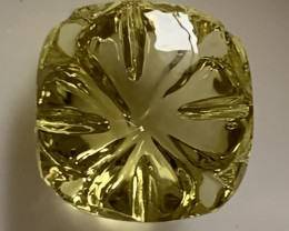 4.25CT FANCY CUT MUSTARD TONE CITRINE - COLLECTOR'S GEM - AMAZING NO RESERV