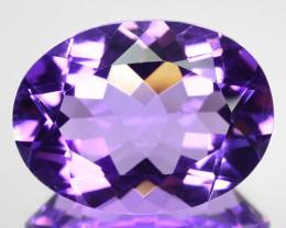 7.45 Cts Natural Purple Amethyst 16x12 mm Oval Cut Bolivia