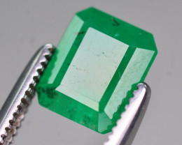 Brilliant Color 1.45 Ct Natural Emerald From Swat