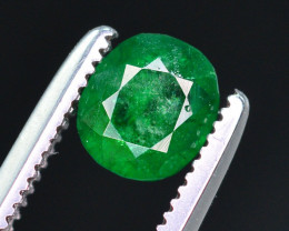 Top Color 0.55 Ct Natural Emerald From Swat