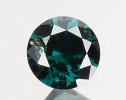 Natural Deep Blue Green Diamond Round Cut Africa 0.08 Cts