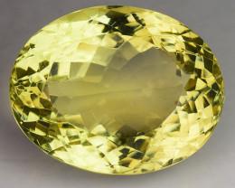 16.84 Ct Natural Lemon Quartz Top Cutting Top Quality Gemstone. 20