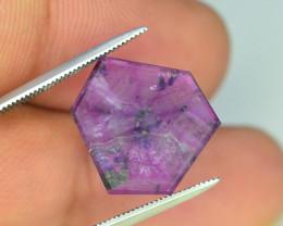 Rarest 7.15 ct  Pink Kashmir Sapphire Trapiche Slice