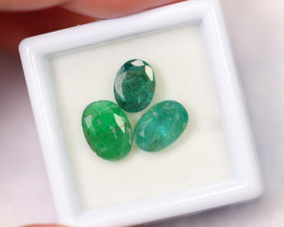 4.24cts Natural Zambian Green Emerald Lot /