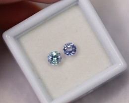 0.91cts  Natural Violet Blue Tanzanite Pair /