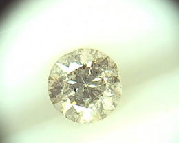 0.45ct Fancy Light Gray  Diamond , 100% Natural Untreated