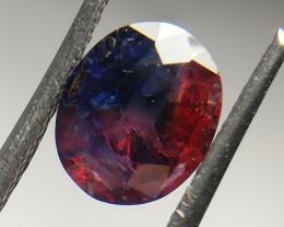 Natural Sapphire 1.48 Cts, Bi Color NO Heat from Kashmir Pakistan