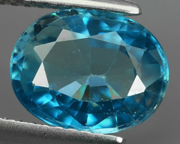 3.45 CTS~FINE QUALITY_LUSTROUS - NATURAL BLUE ZIRCON - OVAL _CUT NR!