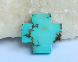 Special Cross Turquoise Cabochon ,Healing Stone Lucky Gemstone C17