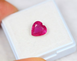 2.14ct Pinky Ruby Heart Cut Lot GW3548