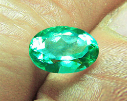 1.10 ct Top Zambian Emerald Certified!
