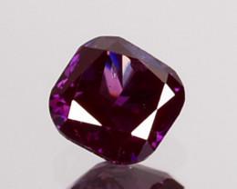 Top Notch Radiant Cut 0.12Ct Natural Purple Pink Diamond