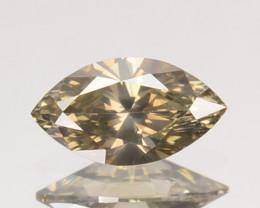 Fabulous Luster 0.29Ct Natural White(Grayish) Diamond Marquise