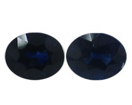 1.15 cttw Pair of Rich Royal Blue Oval Sapphires