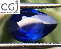 Certified - 0.89ct - Royal Blue Sapphire