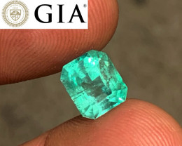*NR* 3.20 ct GIA Colombian Emerald - AAA Color - Glowing Green