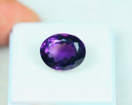 8.09ct Purple Amethyst Oval Cut Lot V3762